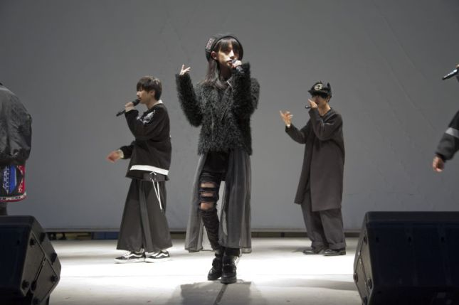 Toman Sasaki, a model and pop band member who regards his look as genderless, during a performance with his group in Kawasaki, Japan.